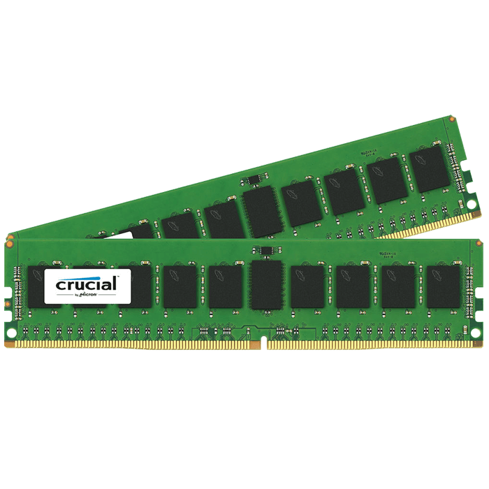 16GB (2 x 8GB) Single-Rank, DDR4 2133MHz, CL15, ECC Registered Memory
