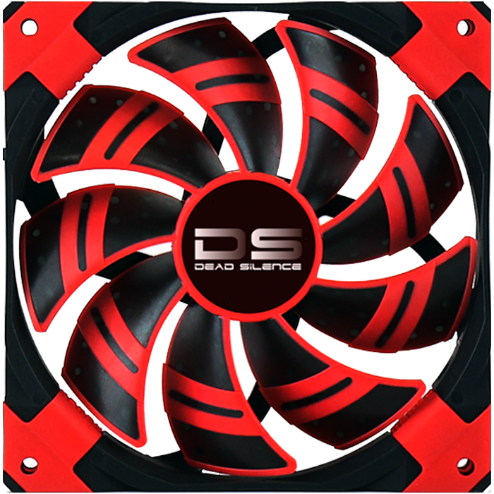 DS 140mm, Red LEDs, 1500 RPM, 93.4 CFM, 23.4 dBA, Cooling Fan