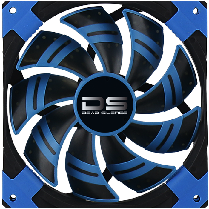 DS 140mm, Blue LEDs, 1500 RPM, 93.4 CFM, 23.4 dBA, Cooling Fan
