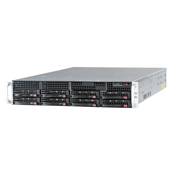 SuperServer 6028R-TR, 2U, Intel C612, 8x SATA, 16x DDR4, Dual 1Gb Ethernet, 740W Rdt PSU