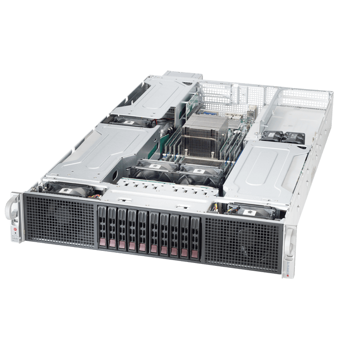 SuperServer 2028GR-TRT, 2U, Intel C612, 10x SATA, 16x DDR4, Dual 10Gb Ethernet, 2000W Rdt PSU
