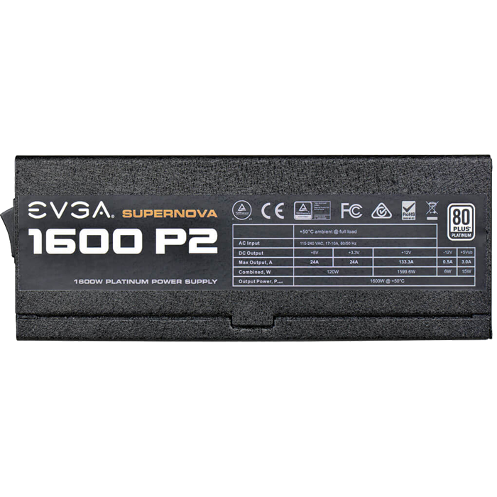 1600 P2, 80 PLUS Platinum 1600W, ECO Mode, Fully Modular, ATX Power Supply