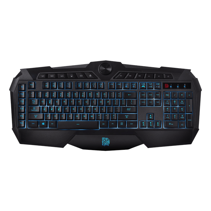 CHALLENGER Prime, Blue/Red/Purple LED, Wired USB, Black, Gaming Keyboard