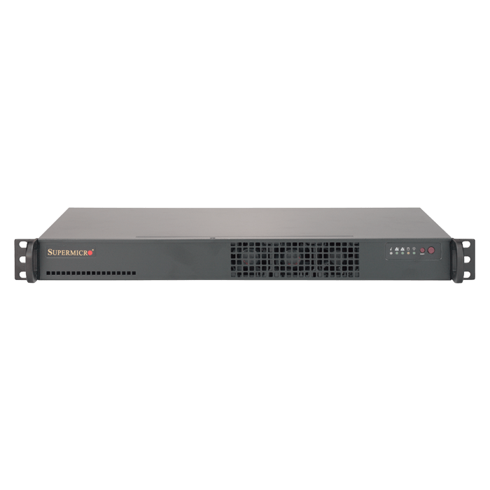 "SuperServer 5018A-TN7B, 1U, Intel Atom C2758, 1x 3.5"" or 4x 2.5"" SATA, 4x DDR3, 7x 1Gb Ethernet, 200W PSU"
