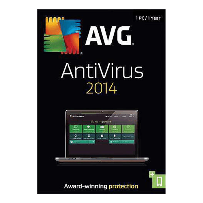AntiVirus 2014, 1 PC / 1 Year, Product Key