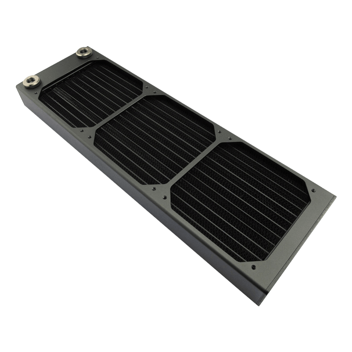 "AX360 Triple Fan Radiator Black, 2x 1/4"", Copper/Brass"