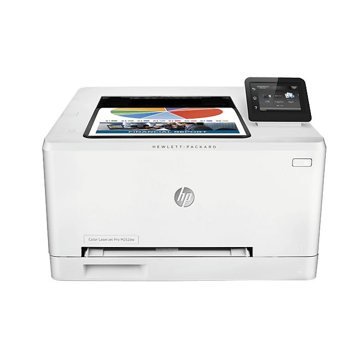LaserJet Pro M252dw, 600 x 600 dpi, 19ppm, Color Laser Printer