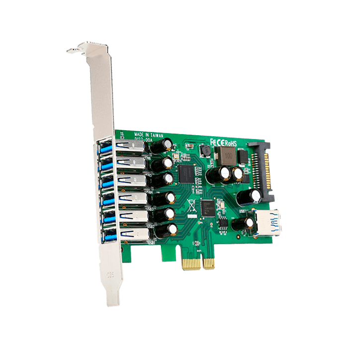 PEXUSB3S7 7 Ports USB 3.0 PCI Express Card