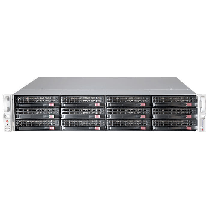 SuperStorage Server 6028R-E1CR12H, 2U, Intel C612, 12x SATA/SAS, LSI 3108 12Gbps SAS, 16x DDR4, Dual 10Gb Ethernet, 920W Rdt PSU