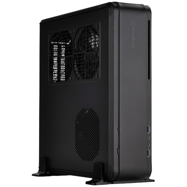 Fortress Series SST-FTZ01B, No PSU, Mini-ITX, Black, HTPC Case