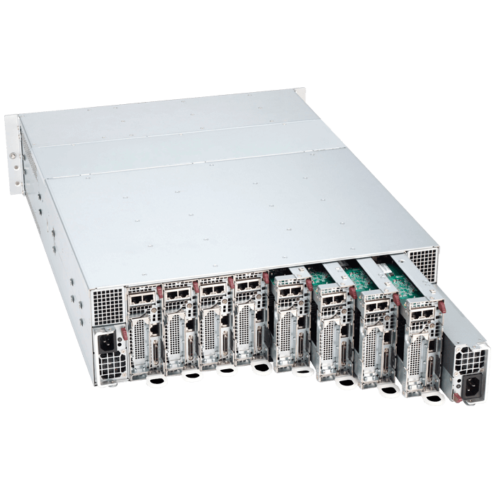 SuperServer 5038MR-H8TRF, 3U MicroCloud, Intel C612, 16x SATA, 32x DDR4, 8x Dual 1Gb Ethernet, 1620W Redundant