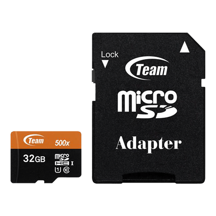 32GB microSDHC UHS-I/U1 Class 10 Memory Card with Adapter, Speed Up to 80MB/s