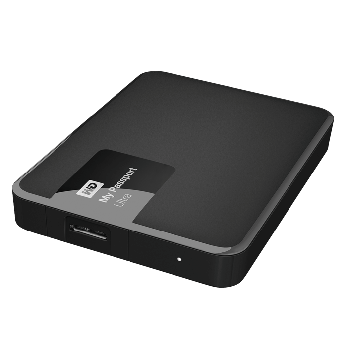 2TB My Passport Ultra, USB 3.0, Black, External Hard Drive