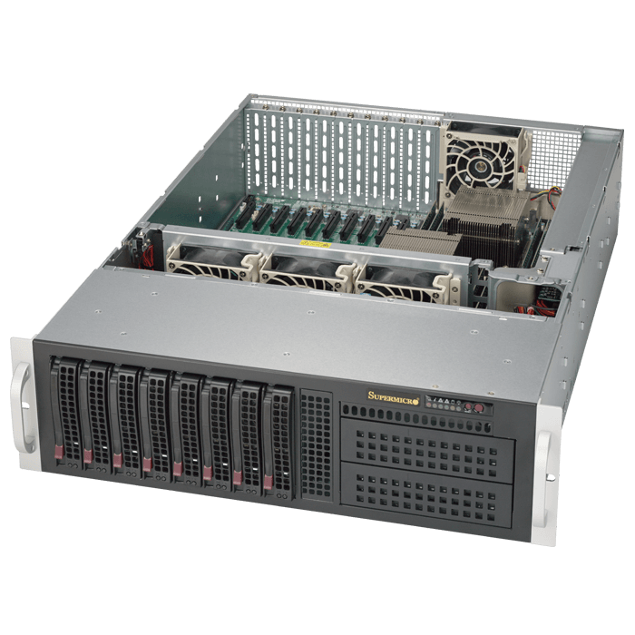 SuperServer 6038R-TXR, 3U, Intel C612, 8x SATA, 16x DDR4, Dual 1Gb Ethernet, 980W Rdt PSU