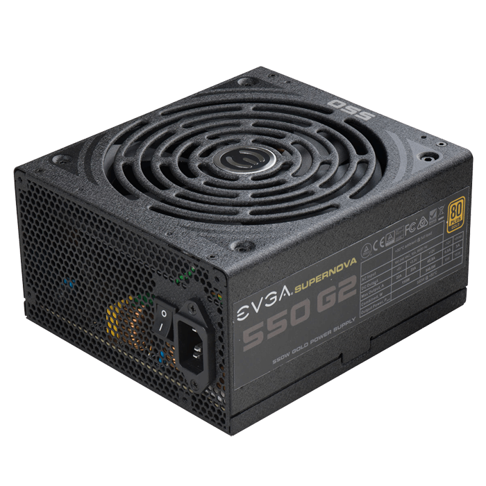 550 G2, 80 PLUS Gold 550W, ECO Mode, Fully Modular, ATX Power Supply