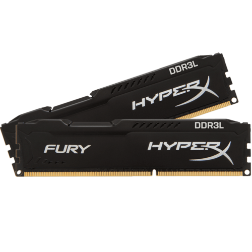8GB Kit (2 x 4GB) HyperX Fury DDR3L 1866MHz, PC3-14900, CL11 (11-11-11) 1.35V, Non-ECC, Black, DIMM Memory
