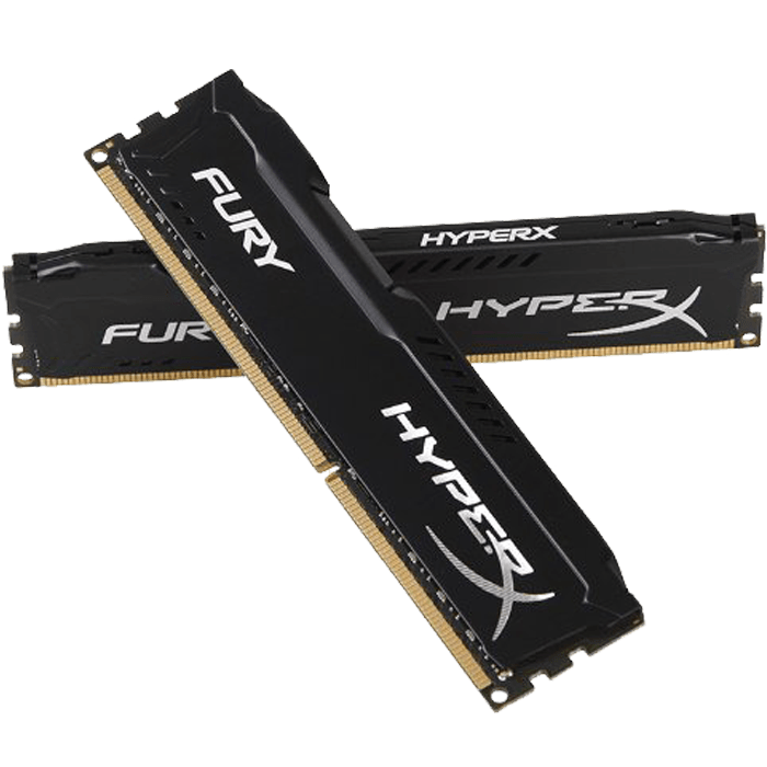 16GB Kit (2 x 8GB) HyperX Fury DDR3L 1866MHz, PC3L-14900, CL11 (11-11-11) 1.35V, Non-ECC, Black, DIMM Memory