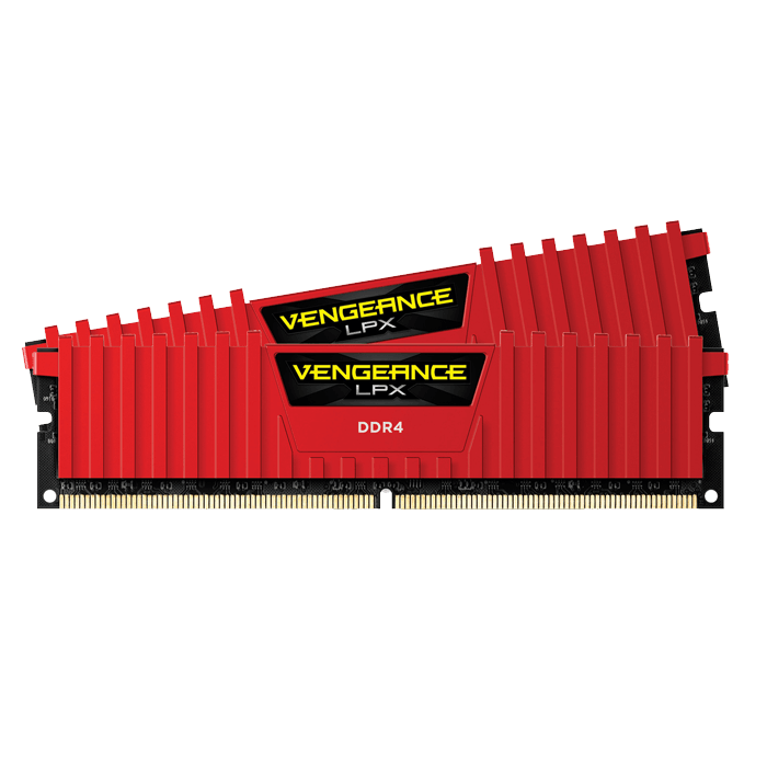 32GB Kit (2 x 16GB) Vengeance LPX DDR4 2666MHz, CL16, Red, DIMM Memory