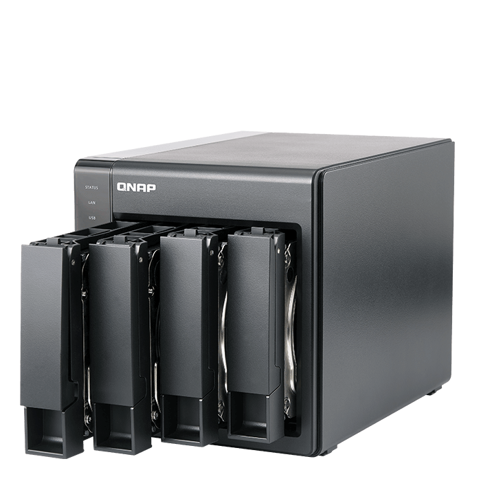 TS-451+ 4-bay NAS Server, Intel® Celeron® J1900 2.00GHz, 2GB DDR3L RAM, SATA 6Gb / s, HDMI, GbLAN / 2, USB 3.0 / 2, USB 2.0 / 2, 90W PSU