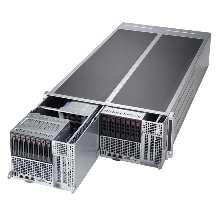 SuperServer F648G2-FT+, 4U FatTwin, Intel C612, 16x SATA, 32x DDR4, 2x Dual 1Gb Ethernet, 2000W Rdt PSU
