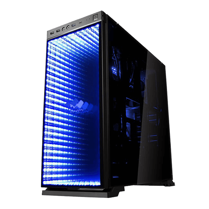 805 Infinity Tempered Glass Atx Black Mid Tower Case