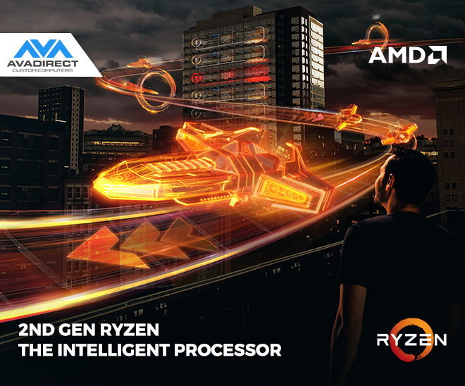 2ND GEN RYZEN™ THE INTELLIGENT PROCESSOR | NOW AVAILABLE AT AVADIRECT