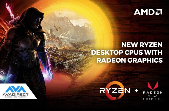 New Ryzen Desktop CPUs with Radeon Graphics Available at AVADirect!