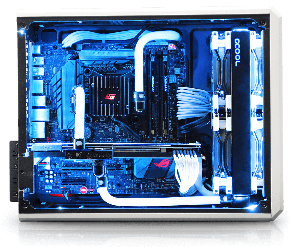 Custom liquid cooled mini gaming pc