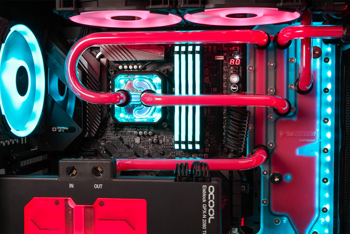 AVA ROG build liquid cooling