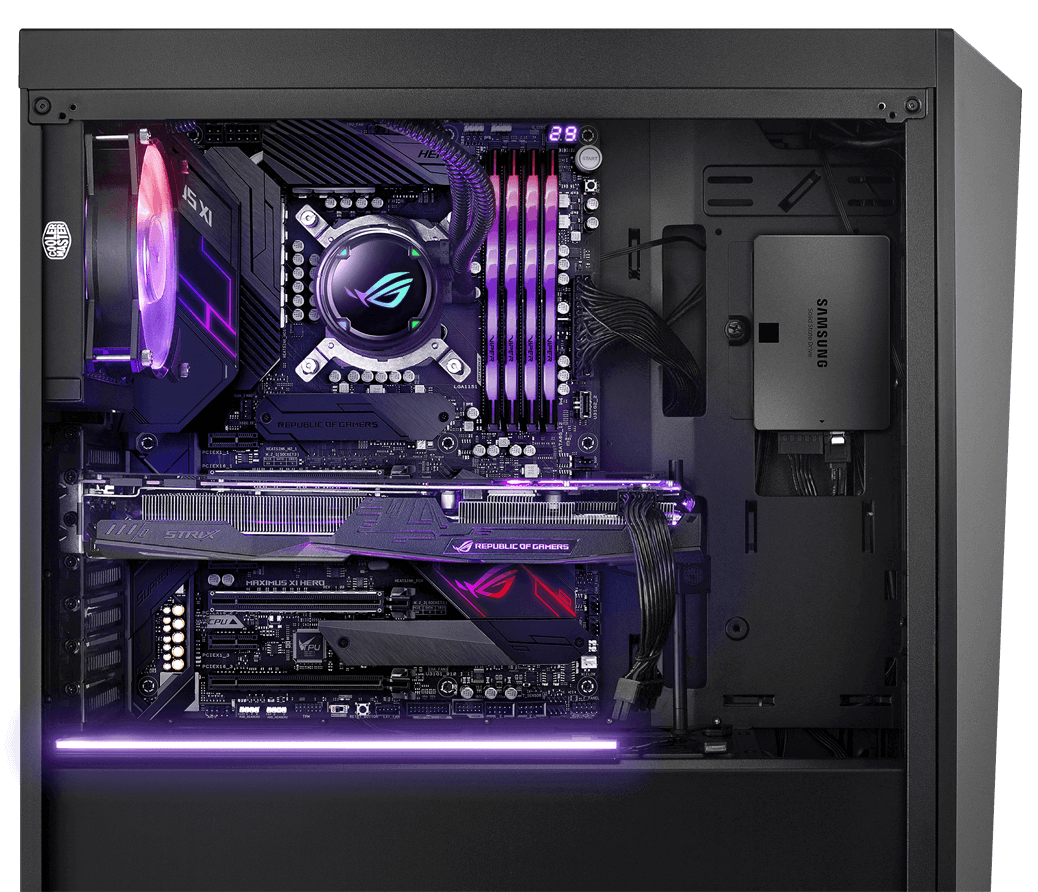 Powered by Asus. Custom Build By AVADirect.