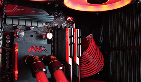 Brimstone gaming pc CPU liquid cooling