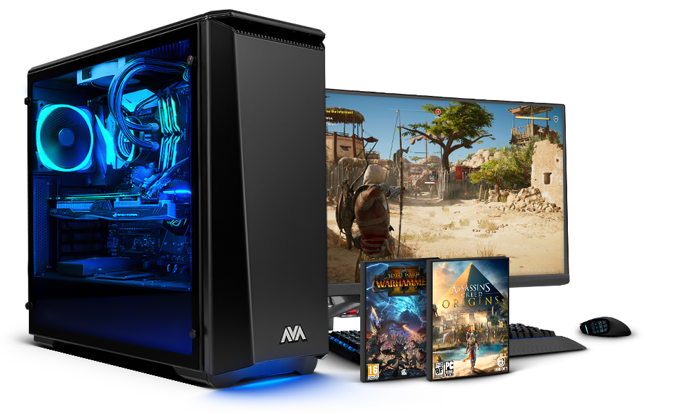 Gaming pc with games