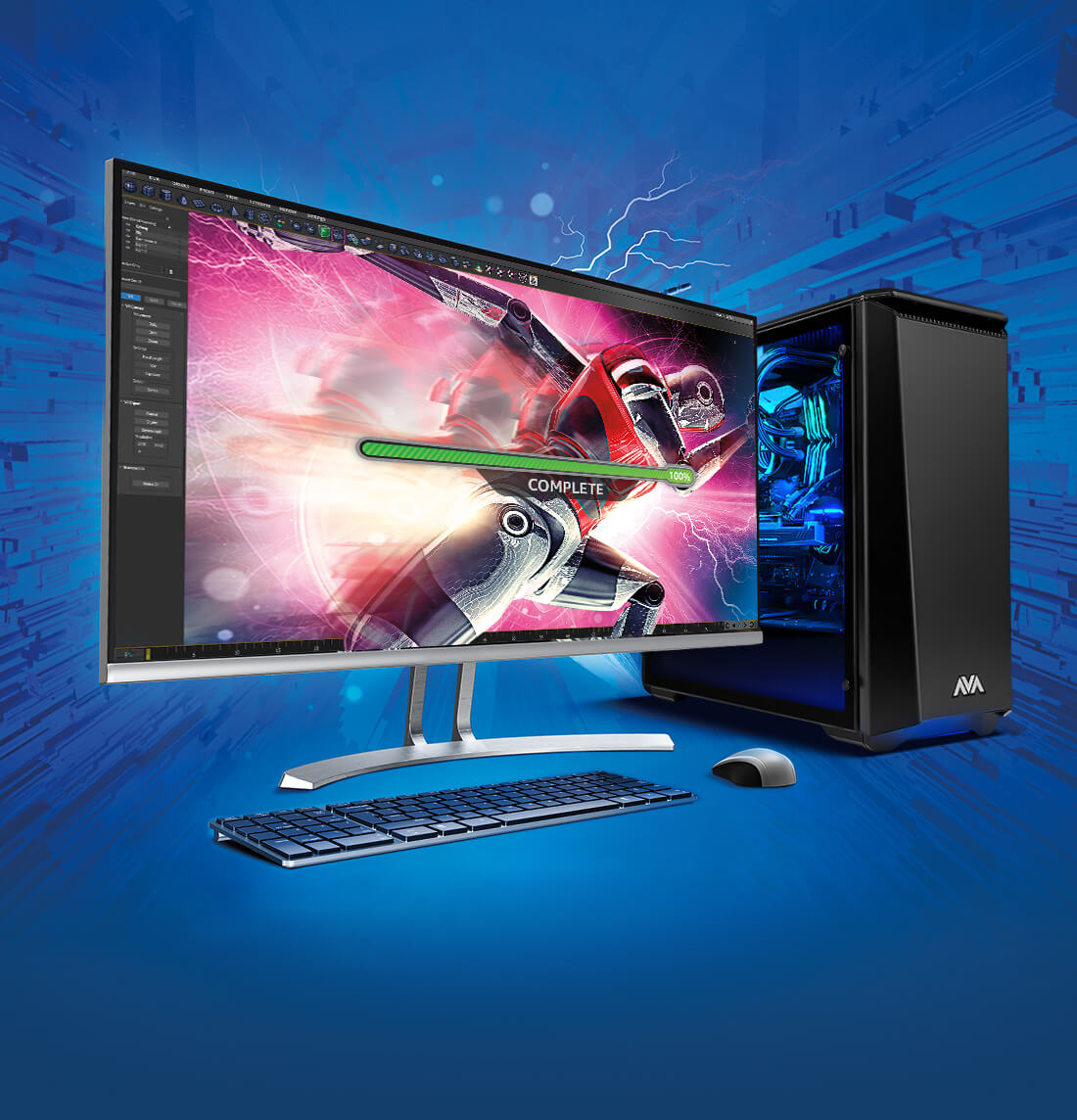Gaming PC with intel optane memory small
