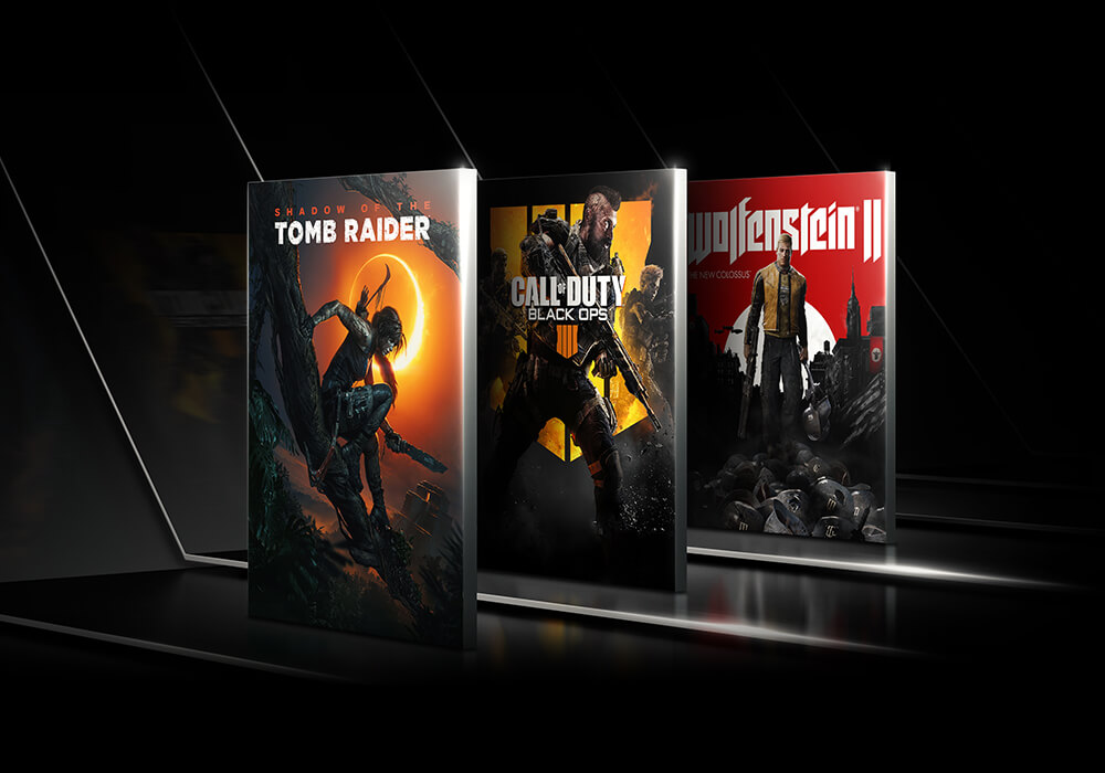 Shadow of the Tomb Raider, Call of Duty Black OPS, Wolfenstein 2