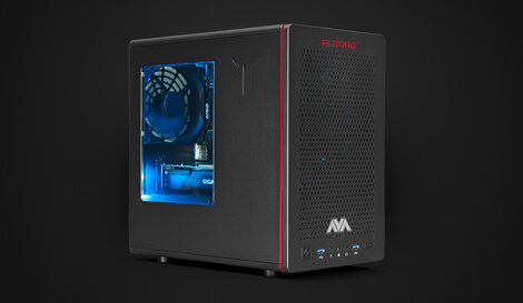 AMD Raven Ridge Mini Gaming PC angle view