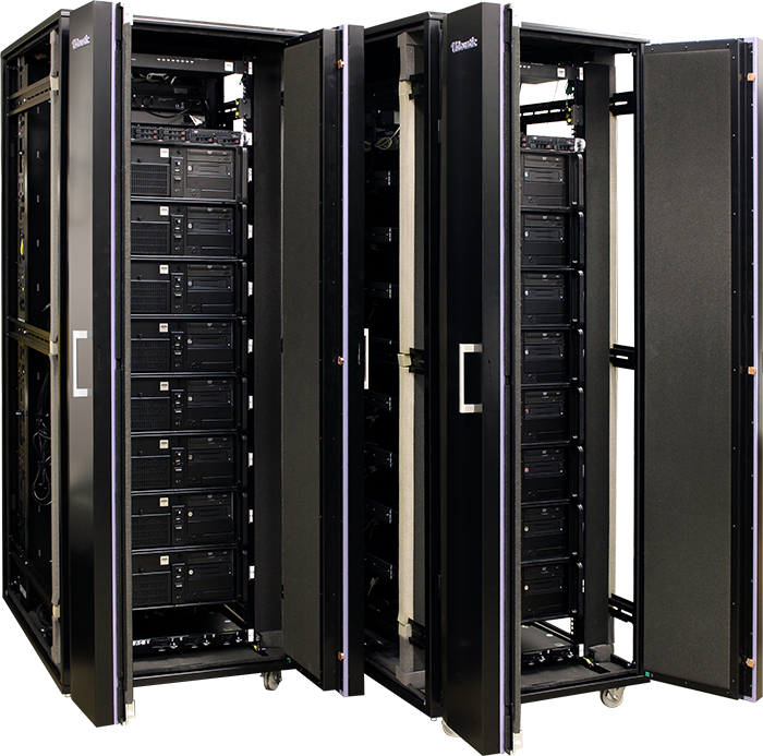 AVADirect server racks for flight simulations