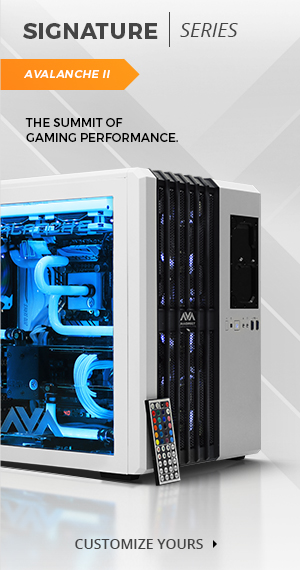 The Avalanche II hardline liquid cooled custom gaming PC