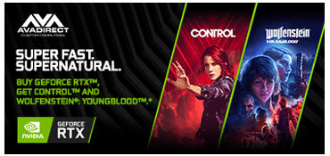 BUY GEFORCE RTX™, GET CONTROL™ AND WOLFENSTEIN®: YOUNGBLOOD™.