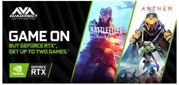 Buy GeForce RTX 2080 Ti Or 2080, Get Battlefield V And Anthem.