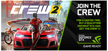 Buy qualifying GEFORCE GTX, get The Crew 2*