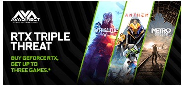 Buy GeForce RTX 2070 or 2060 and pick one of Battlefield V, Anthem, or Metro Exodus.