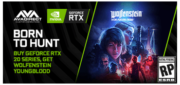 BUY GEFORCE RTX, GET WOLFENSTEIN: YOUNGBLOOD