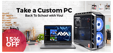Take 15% off select custom computers featuring the latest from Intel and AMD Ryzen platforms!
