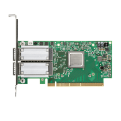 56Gbps FDR InfiniBand or 40/56Gbps Ethernet Network Adapter, ConnectX-4 VPI MCX456A-FCAT, (2x QSFP)