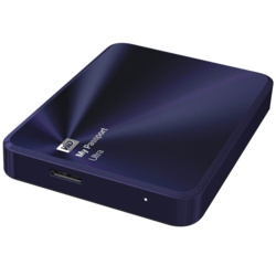 3TB My Passport Ultra Metal, USB 3.0, Premium Portable, Blue/Black, External Hard Drive
