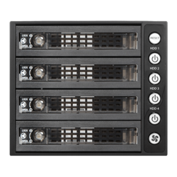 "BPU-340SATA-KL 3x 5.25"" to 4x 3.5"" 2.5"" SAS SATA 6 Gbps HDD SSD Hot-swap Rack with Key Lock"