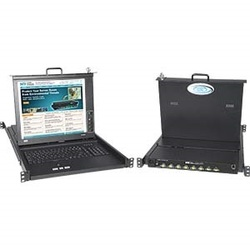17 inch VGA SUN USB KVM Drawer with 4-Port Switch