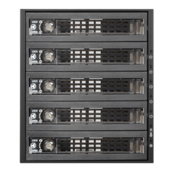 "BPU-350SATA-KL 3x 5.25"" to 5x 3.5"" 2.5"" SAS SATA 6 Gbps HDD SSD Hot-swap Rack with Key Lock"