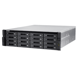 TVS-EC1680U-SAS-RP R2, 3U Unified Storage, Intel Xeon E3-1246 v3, 16x SAS, 4x DDR3 (8GB ECC 2x 4GB included), Dual 10GbE SFP+, 650W Rdt PSU