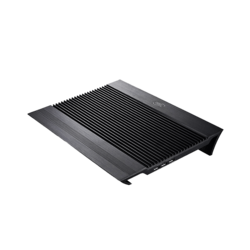 "N8 BLACK up to 17"",  Aluminium Extrution Panel Dual, 4 USB Ports, Black, Cooling Pad"